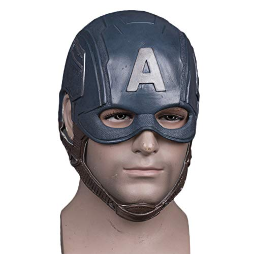 QQWE Captain America Helm Halloween Helm Maske Film Show Maskerade Thema Party Cosplay,A-OneSize