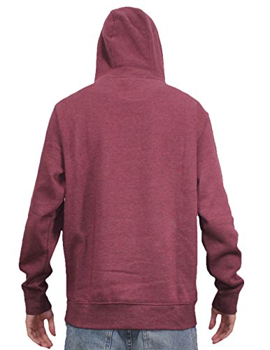 Burton Mens Surf & Skate Pullover Hoodie Sweatshirt Dark Red