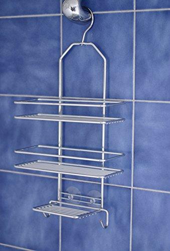 Satina Étagère de douche à suspendre, 43 x 25 cm, Chrome