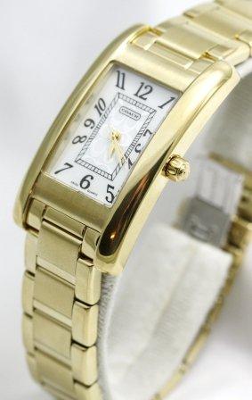 Coach Damen-Armbanduhr Analog Gold - Uhren Coach Frauen Gold