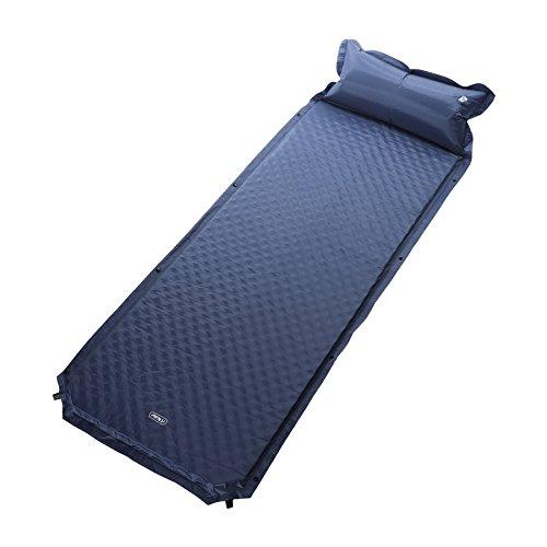 Pinty Selbstaufblasbare Luftmatratze Isomatte Liegematte Sleeping Pad mit Kopfkissen leicht faltbar selbstfüllend wasserdicht Outdoor Camping Reise Wandern Trekking, blau