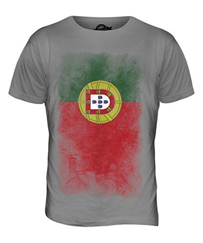 CandyMix Portugal Verblichen Flagge Herren T Shirt Hellgrau