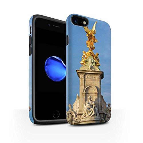 STUFF4 Matte Harten Stoßfest Hülle / Case für Apple iPhone 7 / City of London Muster / Seiten London Kollektion Victoria-Denkmal