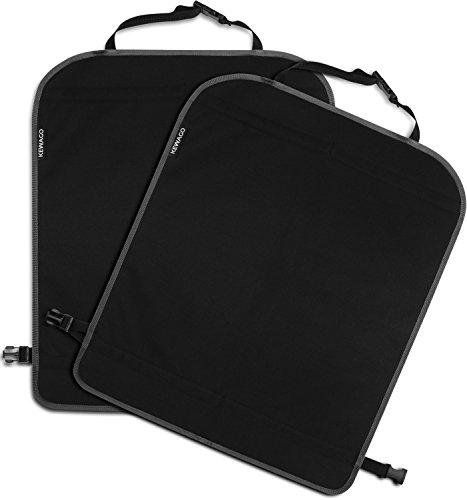 Rückenlehnenschutz (2 Stück) und Kinder Rücksitzschoner von Kewago | Großer Autositz Schutz, schmutzabweisend, schwarz | Universell passend für die meisten Sitze
