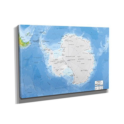 Nerdinger Antarktis - Kunstdruck auf Leinwand (45x30 cm) zum Verschönern Ihrer Wohnung. Verschiedene Formate auf Echtholzrahmen. Höchste Qualität.