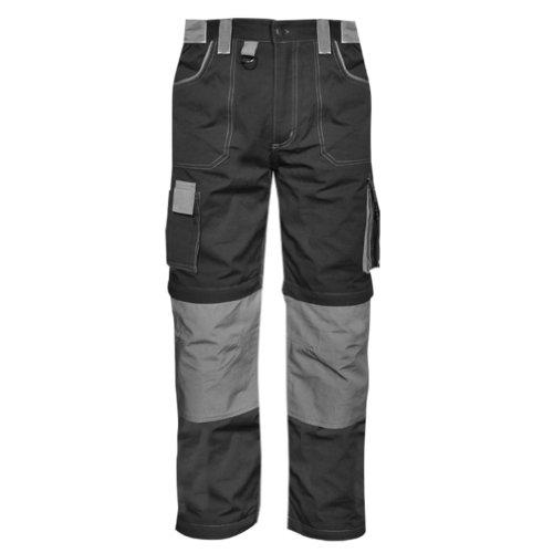 Pantalone multitasche Goodyear in poliestere e cotone colore nero e grigio taglia L