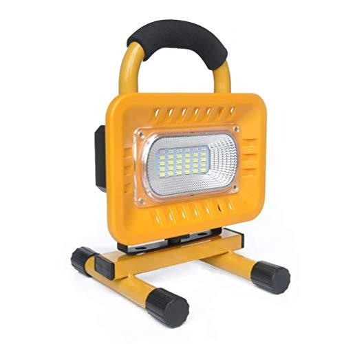 JJSFJH Lavoro Ricaricabile 50W LED Illumina Portable Spotlight Proiettore da Auto e di Sicurezza di Emergenza della Luce Lampada Esterna di Campeggio di Viaggio for i Workshop Giardino G
