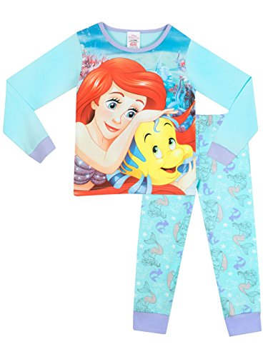 Disney The Little Mermaid - Pigiama a maniche lunghe per ragazze - Ariel - 7 - 8 Anni