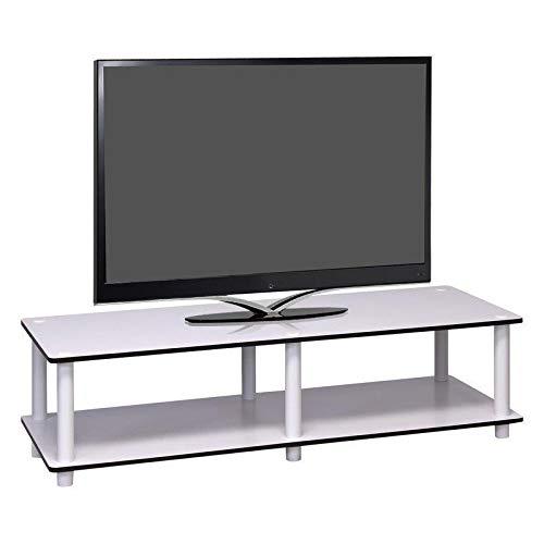 Generic E Console Tab Support TV Blanc Blanc COF Table unité de Stockage de Support de Table Le Unit S Café d'elfes Livi étagères Salon Home ng pièce Ho