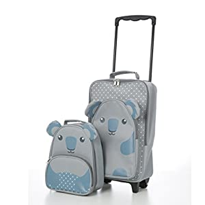 Childrens Luggage Kids Carry on Suitcase Travel Luggage Trolley and Backpack Set (Koala Trolley / Backpack)