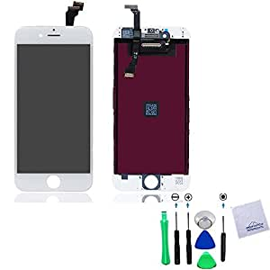 Group Vertical White Touch Screen Digitizer + LCD Assembly For Apple iPhone 6 4.7 A1549 with Tools