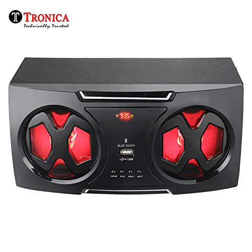 "Tronica Photon Dual 5"" 2.0 Active Bookshelf FM Speakers - Supports Bluetooth/USB/Sd Card Reader (USB Type) & Mobile/pc/Laptop or Any Given aux Source"