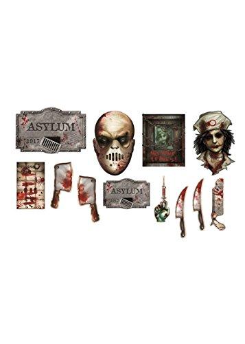Zombie Asyl - Halloween-Asyl ausgeschnitten Dekorationen