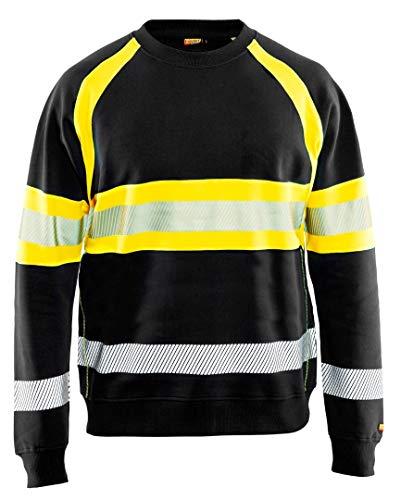 High Vis Sweater Schwarz/Gelb M