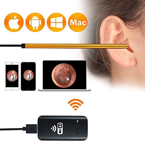 AA-SS-Ear Wax Pick Remover Ohr Wachs-Saug-Entferner Visuelle Ohrlöffel 30W Ohr Artefakt Graben Ohren HD Android Apple HNO-Hals Endoskop