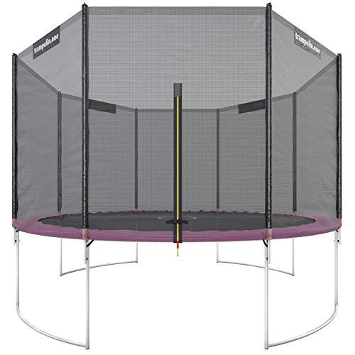 Trampolin.one by Ultrasport Outdoor Trampolin Starter, Kindertrampolin, Gartentrampolin Komplettset inklusive Sprungmatte, Sicherheitsnetz und Randabdeckung, Pink, 366 cm