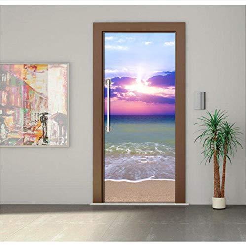 h 3D Wandkunst Bild Wandbild Wandaufkleber Tür Aufkleber Tapete Aufkleber Dekoration 91.4X213Cm ()