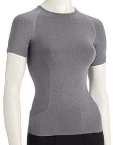 Nike Womens Pro Vent Tight Short Sleeve Crew Grey 226018-075 Small