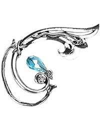 Gothic Punk Snake Wrap Earring Ear Cuff w/ Dangling Bead--for Left Ear