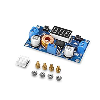 tinxi® 5A 75W DC DC Step down Converter Spannungswandler mit LED Voltmeter