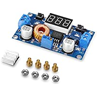 tinxi® 5A 75W DC DC Step down Converter Spannungswandler mit LED Voltmeter