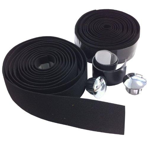 VeloChampion EVA Kork Lenker mit Endkappen (schwarz) Lenkerband (Wie Zu Reinigen Sto)