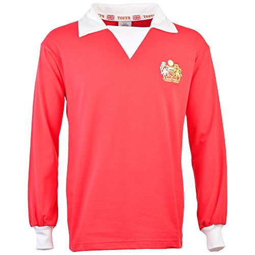 TOFFS Manchester United 1970s Long Sleeve Retro Football Shirt (XX LARGE)