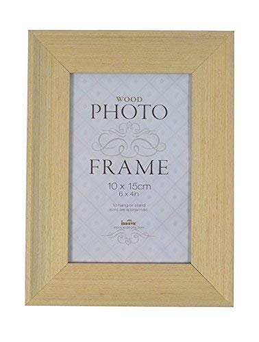 Foto-licht-frame (2 X Studley Licht Holz Furnier Zum Aufhängen oder Ständer Glas Foto Rahmen 6