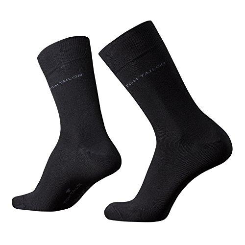 Tom Tailor 9 Paar Business Socken Größe: 43-46 Farbe: Schwarz