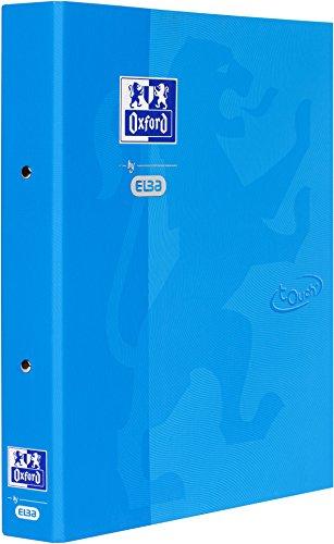 OXFORD by ELBA 400104070 Ringbuch mit soft-touch-Oberfläche, A4 DIN A4 Rückenbreits 4 cm, 2-Ring-Rundmechanik 30 mm, in der Farbe Meerblau