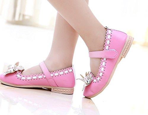 Lukis Kinderschuhe Mädchen Ballerina Prinzessin Festliche Schuhe Lackschuhe mit süß Schleife Rosa