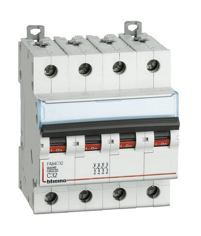 BTICINO FA84C40 - BTDIN45 - MAGNETOT 4P CURVA C 40A 4 5KA