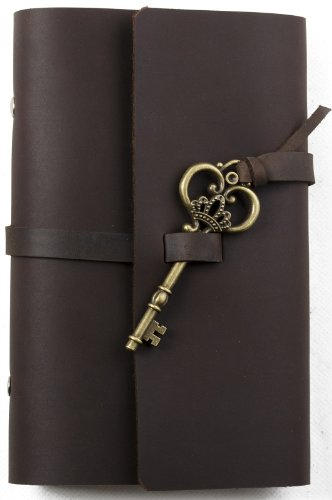 unique-leather-journal-refillable-with-key-loose-leaf-binder-handmade-lined-craft-paper-a6-dark-brow