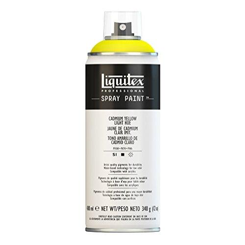 Liquitex Professional Spray Paint - Acrylfarbe, Farbspray auf Wasserbasis, lichtecht, 400 ml - Kadmium - Gelb hell Imit.
