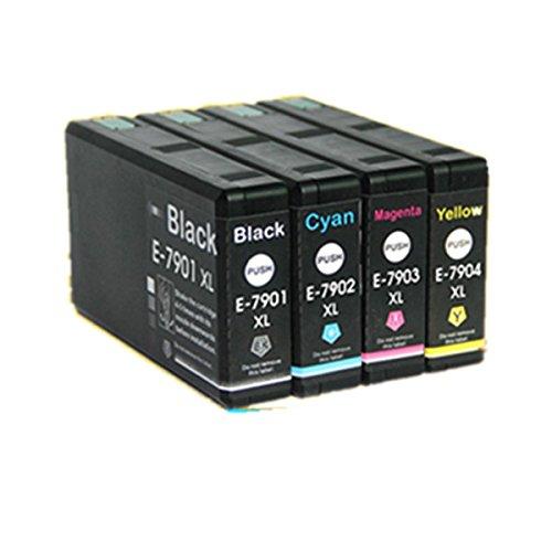 4 cartucce di inchiostro compatibili per Epson WorkForce Pro WF-4630DWF WF-4640DTWF WF-5110DW WF-5190DW WF-5620DWF WF-5690DWF