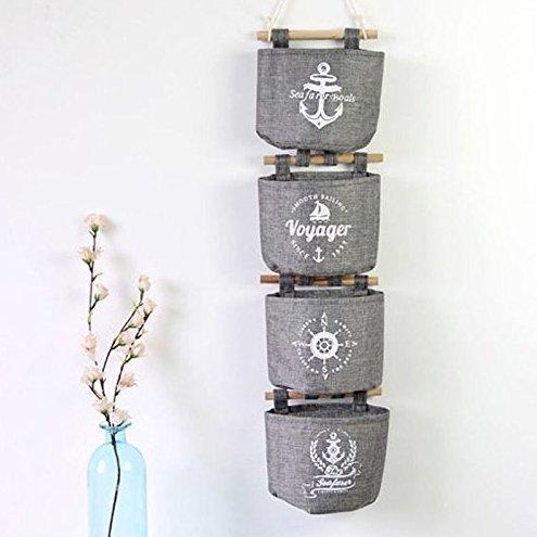 Hängeorganizer,Wand hängenden kreativ 4 Tasche Hanging Storage Bag Hängende Kombination Wand Hängen Hängeorganizer/Hängende Tasche Debris Beutel Bad Wand,Multifunktionale Wohnzimmer Schlafzimmer Hängenden Tasche (Style-2)