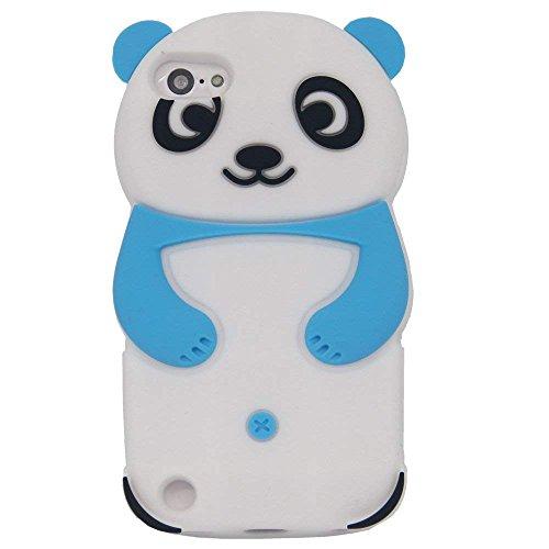 iPod Touch 5 Fall, iPod Touch 6 Fall - Tsmine Cute Cartoon 3D Panda weichen Silikon zurück waschbar Abdeckung stoßfest Schutzhülle für Apple iPod touch 5. 6. Generation, hellblau - Panda Fall Ipod