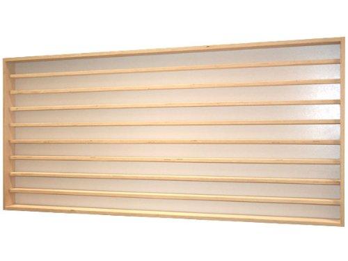 V10- Vitrine murale 100 cm x 55 cm x 7,5 cm collection miniature collecteur affichage pion petit article vitres en plexiglas clair meuble rangement étagère armoire bois nature