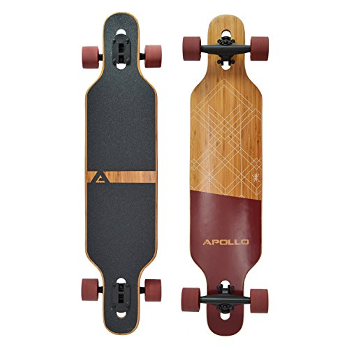 Apollo Longboard Bali Special Edition Komplettboard mit High Speed ABEC Kugellagern, Drop Through Freeride Skaten Cruiser Boards