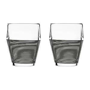 DesignHouseStockholm Timo Termo - Verre, transparent, silicone noire 2 unité 30 cl (10 fl. oz.)
