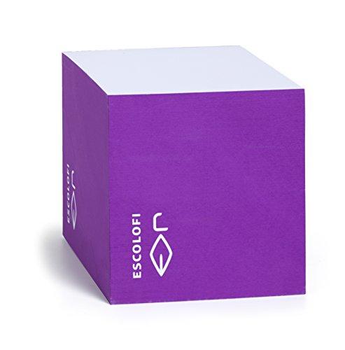 Escolofi 164200006 - Taco de notas, 10 x 10 x 10 cm, color violeta