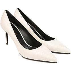 Saint Laurent pumps Heels Schuhe aus weißem Leder - Modellnummer: 375368 CV600 9030 - Größe: 39 EU