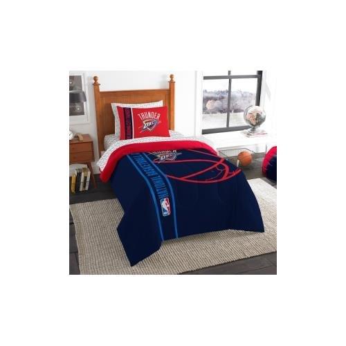 Northwest NBA Soft und Cozy Bett in einer Tasche Twin Tröster Set (5Stück), unisex, blau (5 Stück Tröster)