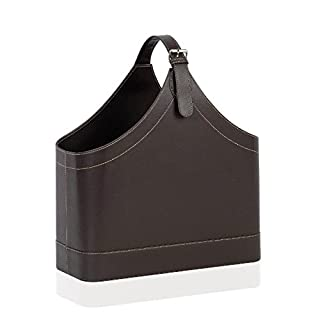 Andrea House – Leather Effect Magazine Holder, 40 x 17 x 45 cm (AX6738)