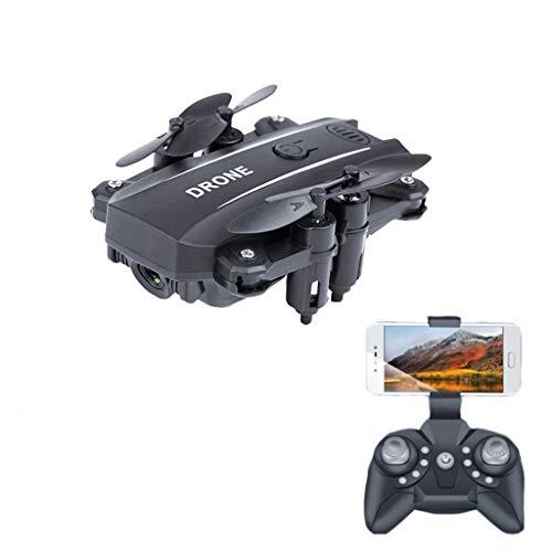 YU\'TING - Giocattolo FeiBeauty ‿ M9 Mini Drone GPS Telecamera HD 1080P Pieghevole Drone con WiFi FPV App Controllo Selfie modalità Seguire 2.4GHz (Nero, 11x11x3.5cm)