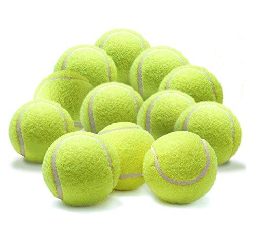 Milopon Balles de tennis à grande élasticité Jaune Pour entraînement professionnel, sports de plein air Jouet pour animaux domestiques chats chiens , 10PCS