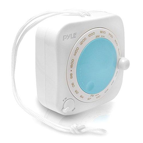 Pyle PSR7,2VES PSR7,2VES spritzwassergeschützt wasserabweisend Mini am/fm Radio, mit Gurt zum Aufhängen Rotary Lautstärkeregler, manuelle Tuner