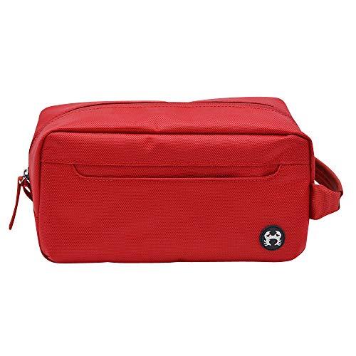 bagSy Crab Your Bag - Trousse de Toilette de haute qualité | Nécessaire de Toilette | Trousse de Maquillage | Plusieurs Compartiments, ultralégère, imperméable et spacieuse | (Rouge)
