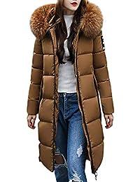 ORANDESIGNE Femme Doudoune Longue Manteau Zippé épais Chaud Parka Blouson  Hiver Fourrure avec Capuche Elegant Slim 37b25409faf6