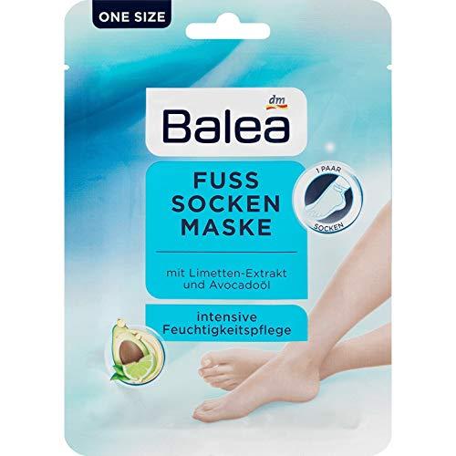 Balea - Fuss Socken Maske - mit Limette-Extrakt und Avocadoöl